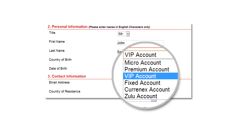 Forex withdrawal form